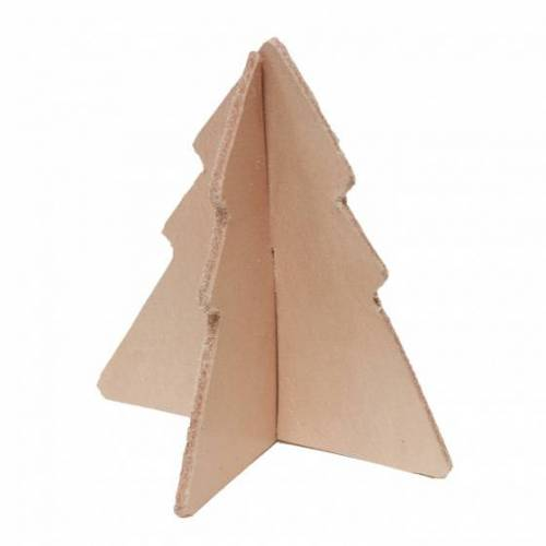 Tak Design tischdekoration Weihnachtsbaum 9 x 9 x 9 cm Leder braun