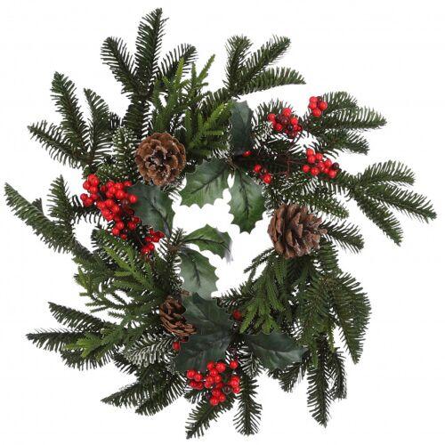 TOM weihnachtskranz Patton 40 cm rot/grün