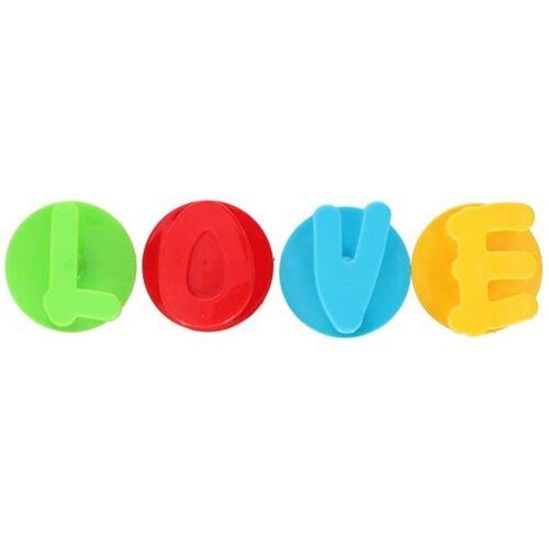 TOM selbstklebende Haken Love 5,5 x 4 cm PVC 4 Stück