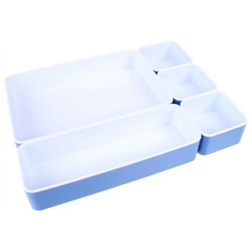 Alpina aufbewahrungsset 23 x 30,5 x 4,5 mm PVC blau/weiß 5 teilig