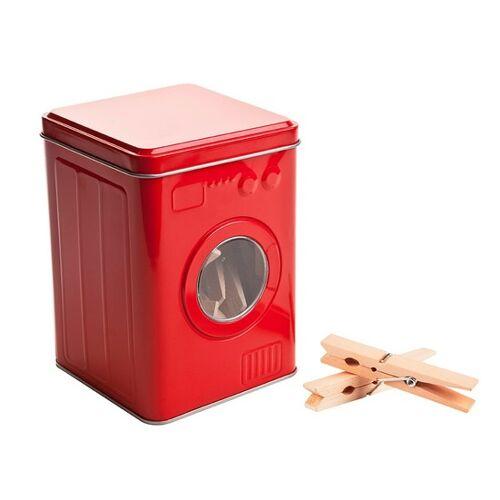 Balvi aufbewahrungsbox Waschmaschine 14 x 10 cm zinnrot