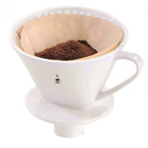 Gefu kaffeefilter Sandro 17 x 14,2 cm Porzellan weiß Größe 4
