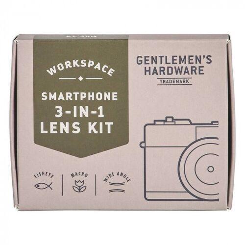 Gentlemen's Hardware smartphone Objektivsatz 6 x 8 x 2 cm 3 teilig