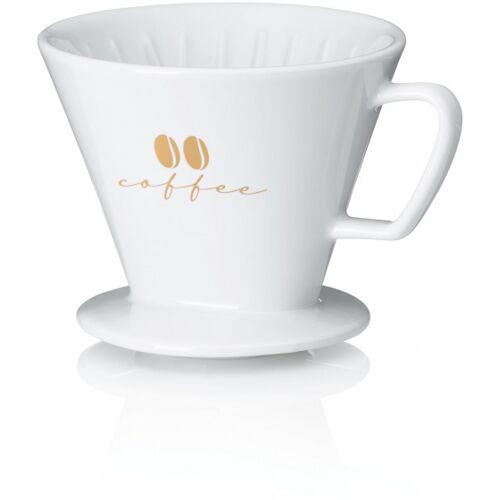 Kela Keuken kaffeefilter Excelsa 14,5 x 11,5 cm Porzellan weiß