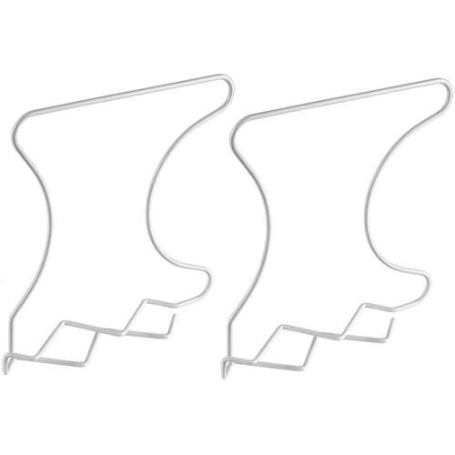 Metaltex schranktrennwände Wally 33 x 29 cm Metall/PE weiß 2 Stück