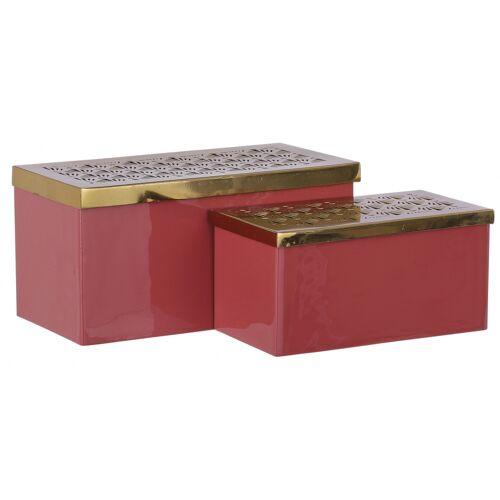 Mica Decorations aufbewahrungskästen Lua 2,3/1,4 Liter Stahl rosa