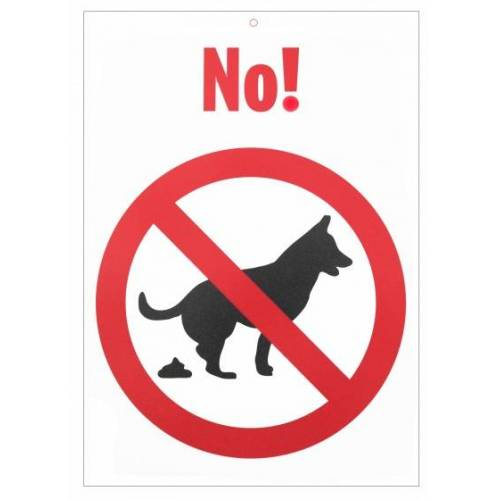 Otter House verbotszeichen Hundekot 21 x 15 cm