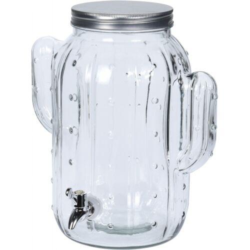 Pro Garden limonadenhahn Kaktus 8 Liter Glas transparent