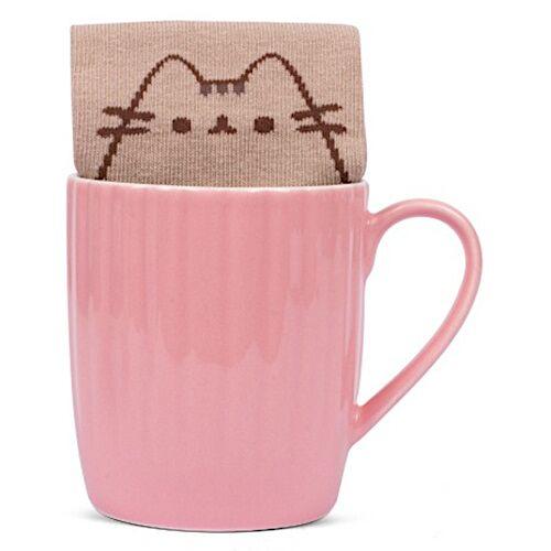 Pusheen becher und Socken Pusheen 15 x 8,5 cm Keramik rosa 2 teilig