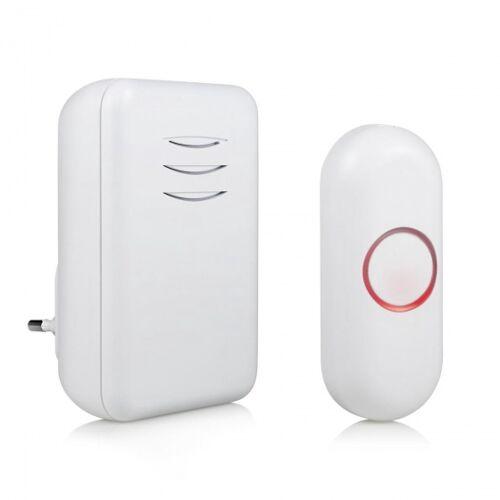 Smartwares drahtlose Türklingel DBY 22312 10 cm weiß 4 teilig