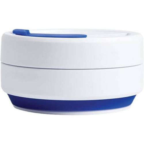 Stojo to go Becher Pocket Blue faltbar PP 355 ml blau/weiß