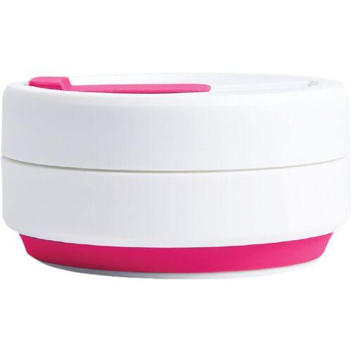 Stojo to go Becher Pocket Pink faltbar PP 355 ml rosa/weiß