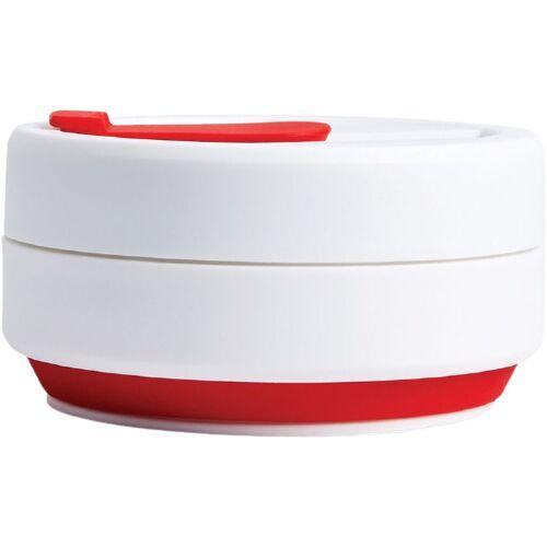 Stojo to go Becher Pocket Red faltbar PP 355 ml rot/weiß