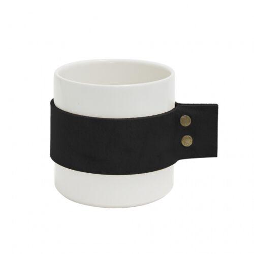 Tak Design becher Wrap Me 200 ml 8,5 x 9 cm Keramik weiß/schwarz