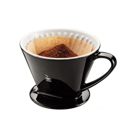 Gefu kaffeefilter Sandro 17,5 x 14,5 cm Porzellan schwarz