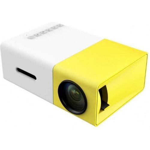 TOM mini Beamer LED 12,6 x 8,5 cm 320x240 Pixel weiß/gelb