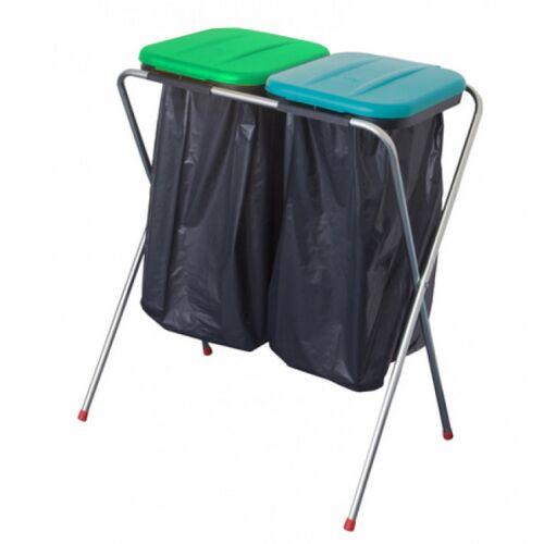 TOM müllsackhalterung für 2 Säcke grün/blau