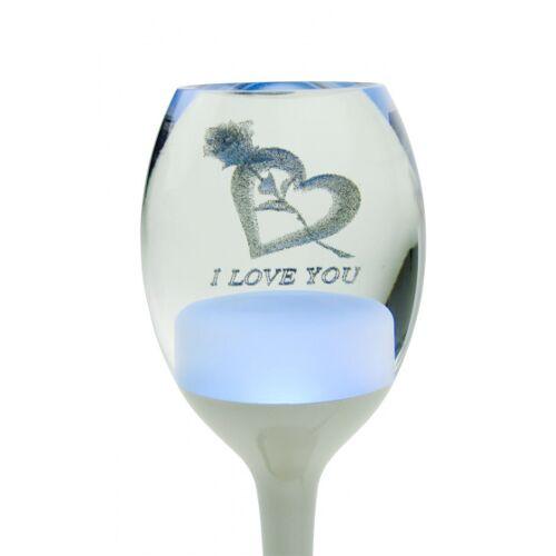 United Entertainment Love Lamp stimmungslichtgeführtes Weinglas 17 x 7 cm weiß