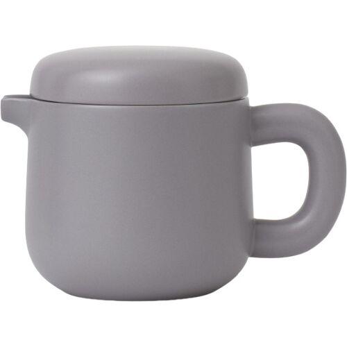 Viva teekanne Isabella 600 ml Porzellan grau 2 teilig