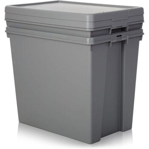 Wham staukasten 92 Liter 60 x 52 cm grau