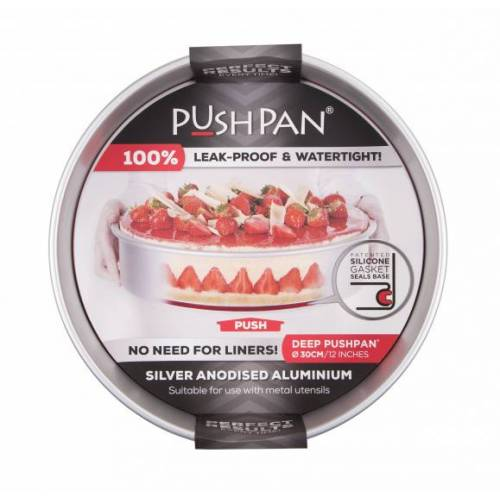 Wham backform tief PushPan 30 cm Aluminium silber
