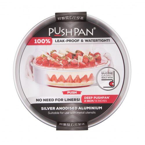Wham backform tief PushPan 36 cm Aluminium silber