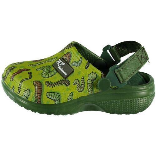 XQ Gardenwear garten Clogs Wurm Gummi grün Größe 19 21