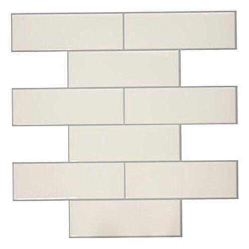 RoomMates StickTiles Metro 27 x 27 cm PVC weiß 4 Stück