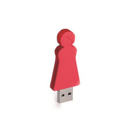 E-my E my USB Stick Stadtmutter 4GB 6 cm rot