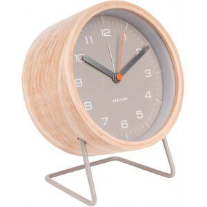Karlsson wecker InnateBoxtel & Buijs 18 cm Holz grau/natur