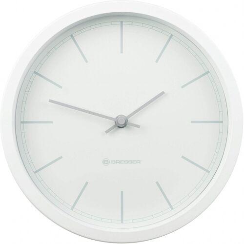 Bresser wanduhr MyTime DCF 25 cm Edelstahl weiß/grau