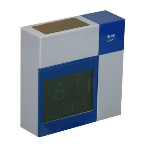PowerPlus wecker Racoon Solar 8 x 8,8 cm grau/blau