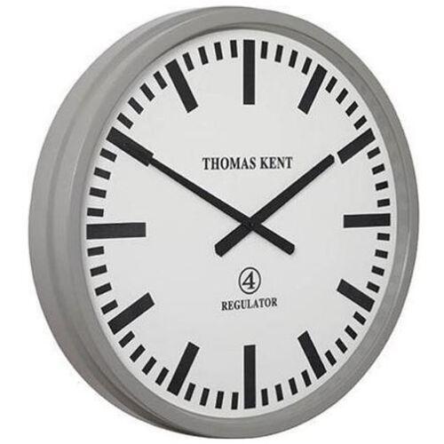 Thomas Kent wanduhr Regulator 54 cm Stahl weiß/grau