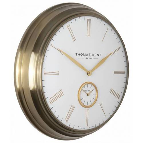 Thomas Kent wanduhr Timekeeper 71 x 11 cm Stahl weiß/gold