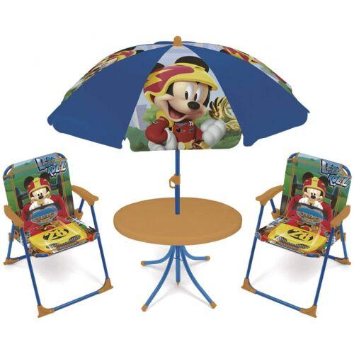 Disney gartenset mit Sonnenschirm Mickey Mouse 4 teilig