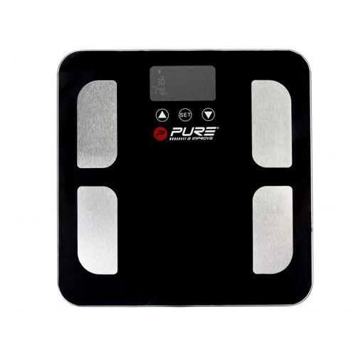 Pure2Improve Personenwaagen mit Fettmessung 35 cm schwarz / silber