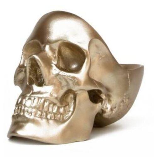 Suck UK organisator Totenkopf 21,5 x 12,5 cm Polyresin gold