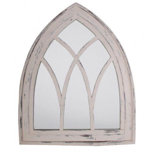 Esschert Design spiegel Gotisch 66 x 80 cm Holz weiß