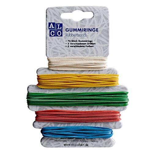 Alco gummibänder 9 cm Gummi 75 Stück