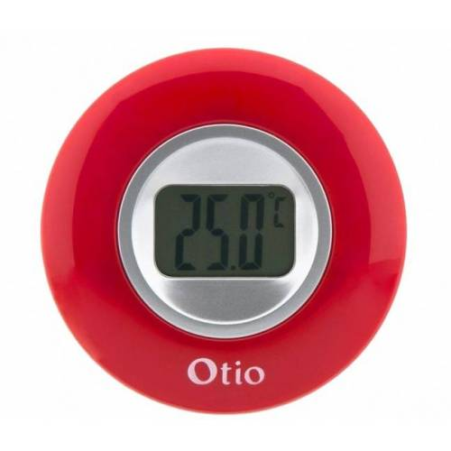 Otio innenthermometer mit LCD Anzeige 77 mm rot
