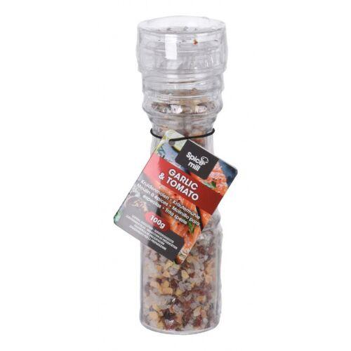 Spice mill gewürzmühle Knoblauch&Tomate 100 Gramm Glas transparent