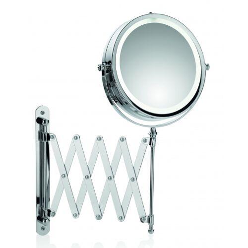 Kela badspiegel Valeria Led 65 x 17,5 cm Stahl silber