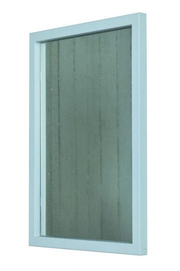 Spinder Design spiegel Senza 40 x 55 cm Edelstahl weiß