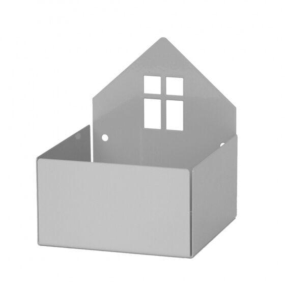 Roommate aufbewahrungsbox Haus 11 cm Stahl grau