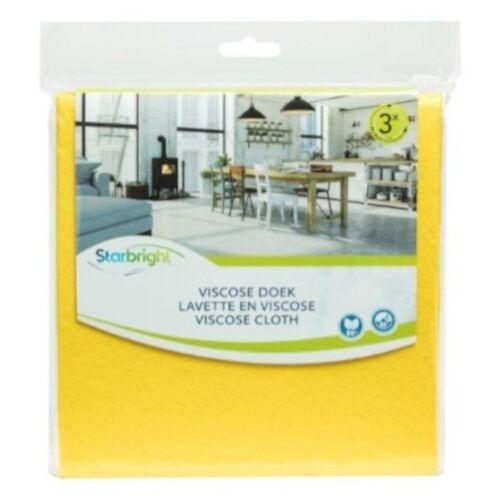 Starbright reinigungstücher 38 x 38 cm Viskose gelb 3 Stück