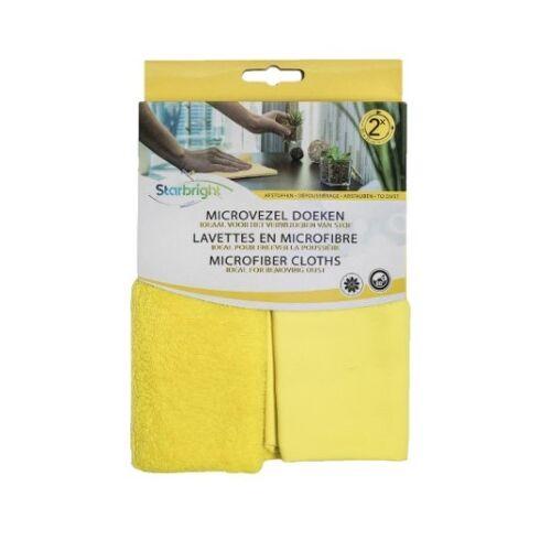Starbright reinigungstuch Mikrofaser 35 x 35 cm gelb 2 Stück
