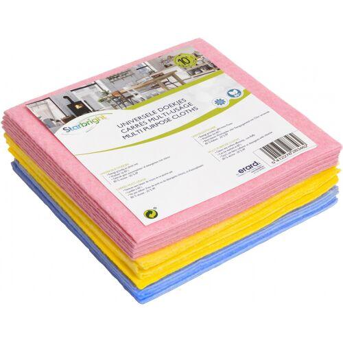 Starbright reinigungstücher 38 cm Viskose rosa/blau/gelb 10 Stück