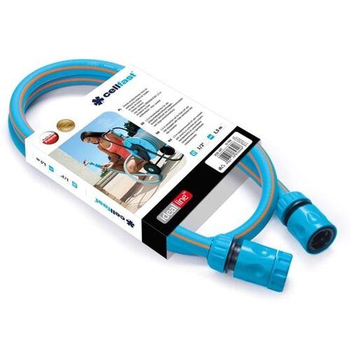 Cellfast gartenschlauch Anschluss Set 1/2 Zoll 1,5 Meter blau/grau