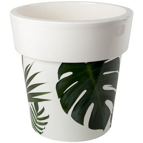 Hega blumentopf Melisa 7,8 Liter 25 cm weiß/grün