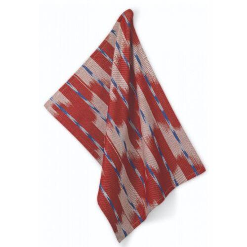 Kela geschirrtuch Ethno 70 x 50 cm Baumwolle rot/grau